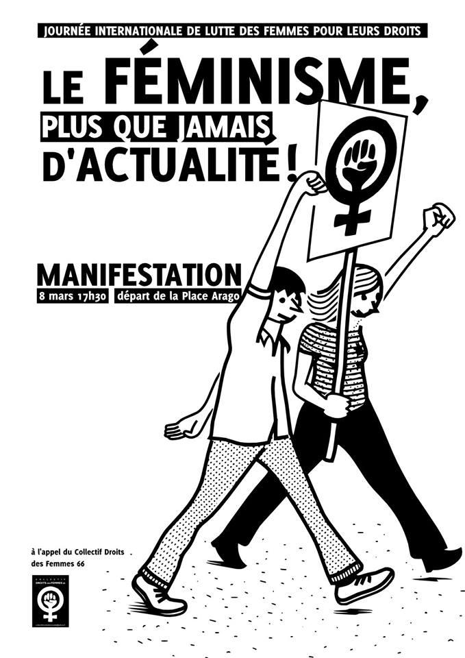 Droits des Femmes-8 mars 2018 -Perpignan