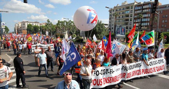 07f6e2b9ec0 La manifestation du 22 mai 2018 à Perpignan en défense des services ...