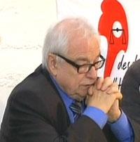 Maître Henri Leclerc, président d'honneur de la Ligue des droits de l'Homme.