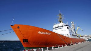 L'Aquarius, affrété par SOS Méditerranée, a déjà sauvé des centaines de vies en Méditerranée.