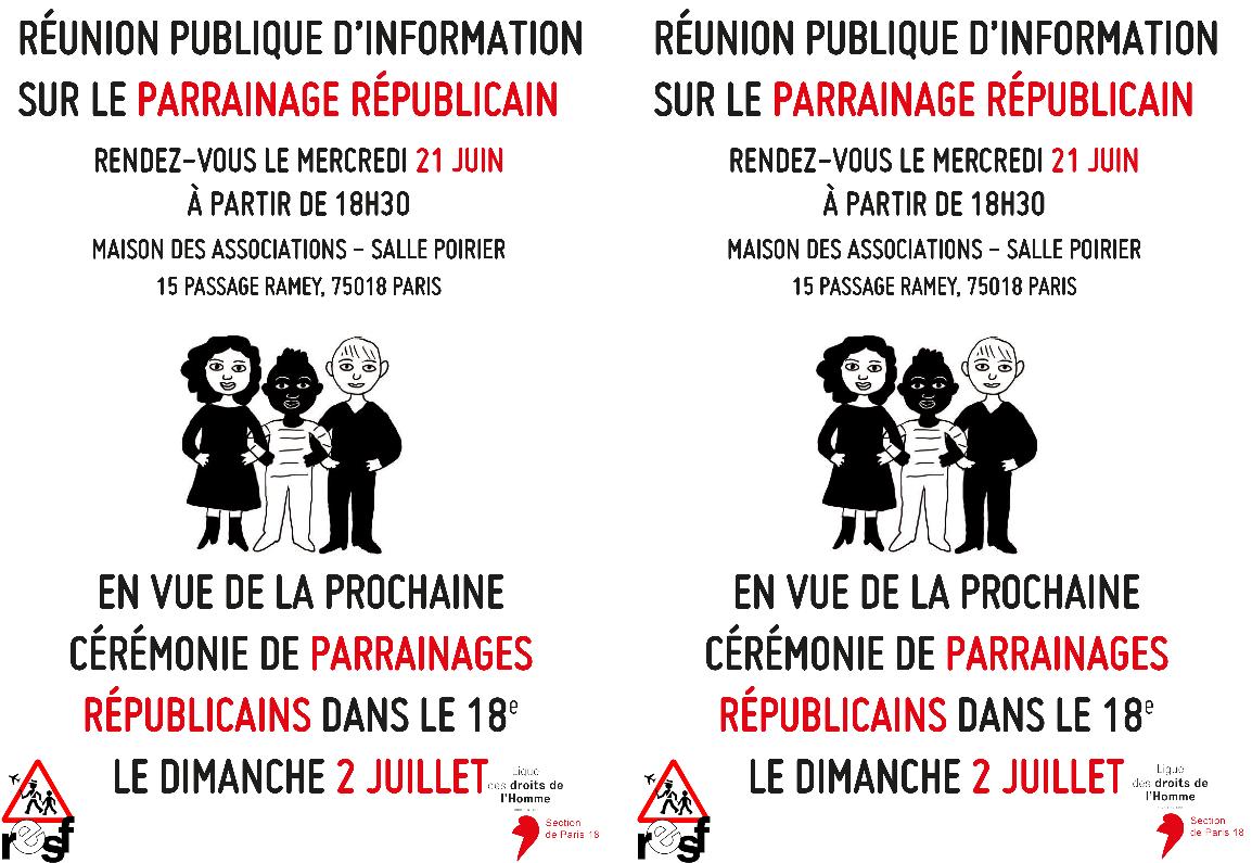 Tract réunion d'information du 21 juin