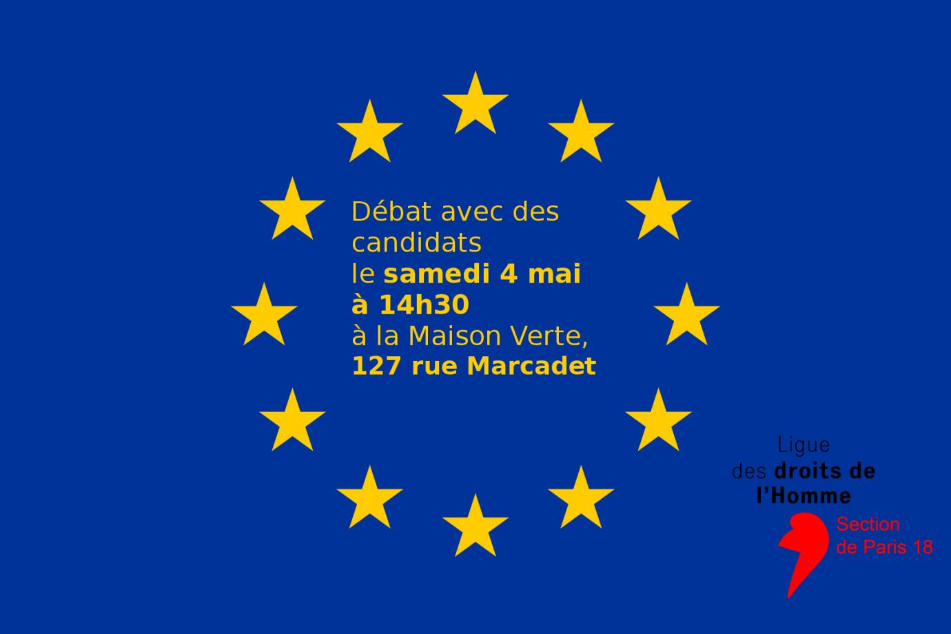 Débat le 4 mai à la Maison verte à 14h30 pour les élections européennes
