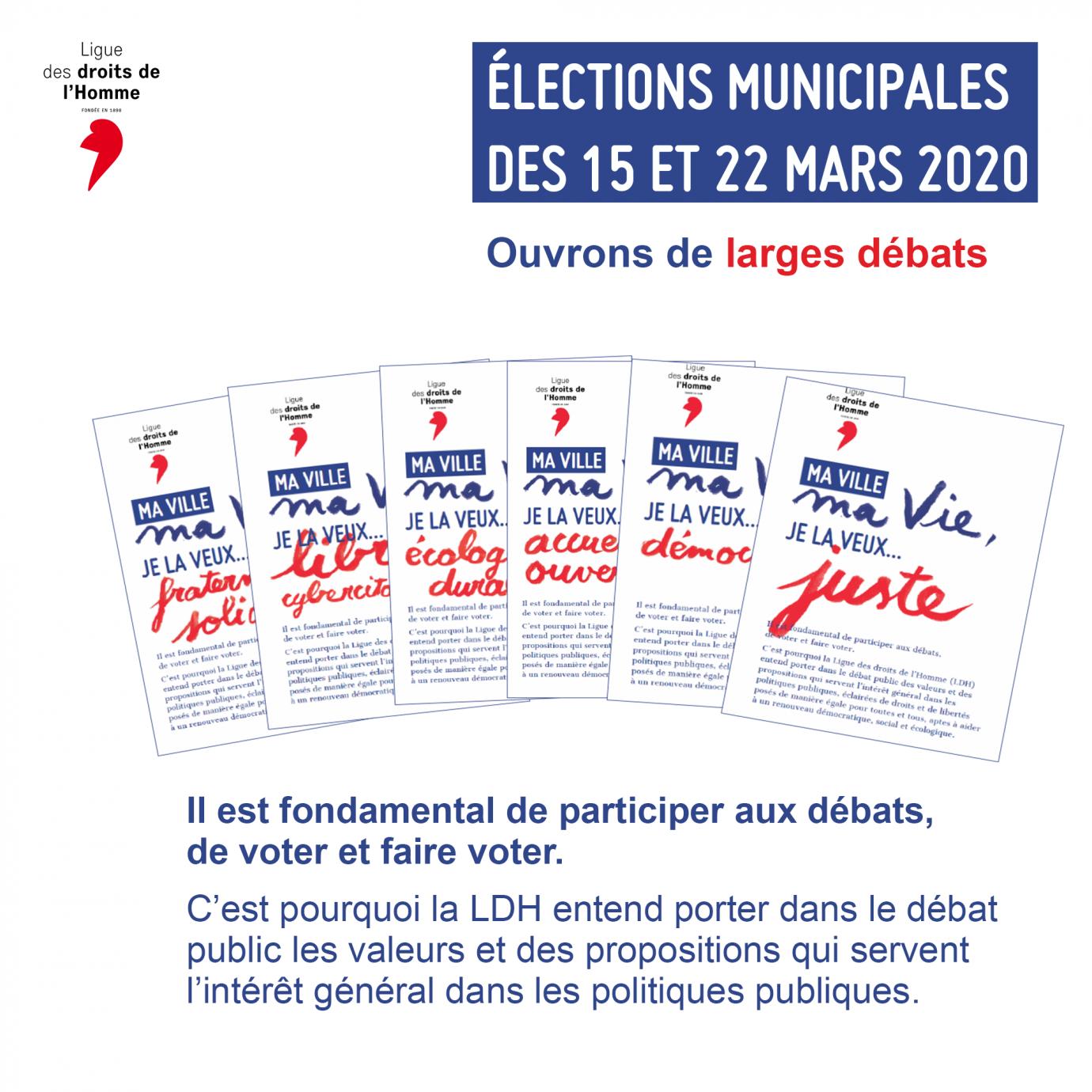 Campagne en faveur du vote pour les municipales de mars 2020 de la LDH