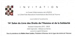 INVITATION SALON DU LIVRE