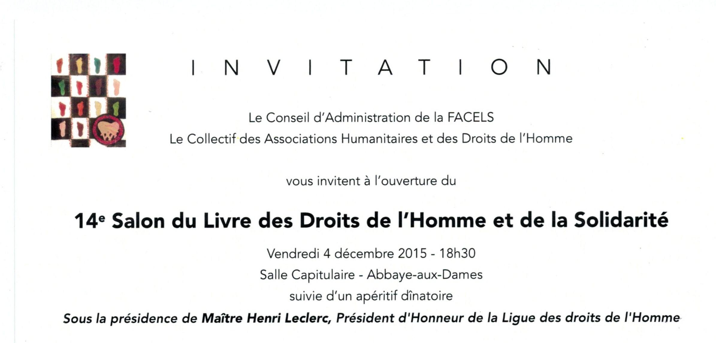 Ligue des droits de l 39 homme poitou charentes ev nements - Salon de l agriculture invitation gratuite ...